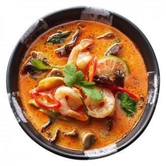 Тайський суп з креветкою
